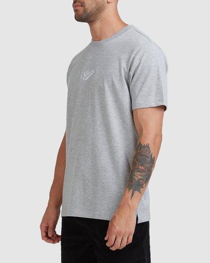 1 Script Short Sleeve Tee Grey R115045 RVCA