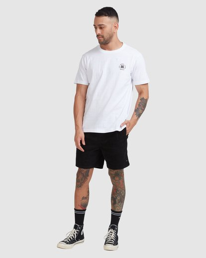 4 Rvca Seal Short Sleeve Tee White R115047 RVCA