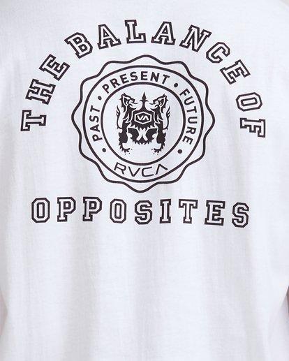 3 Rvca Seal Short Sleeve Tee White R115047 RVCA
