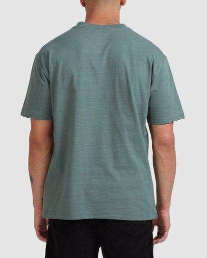 2 Rvca Teamster Short Sleeve Tee Green R115048 RVCA