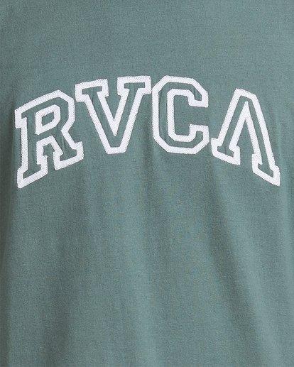 3 Rvca Teamster Short Sleeve Tee Green R115048 RVCA