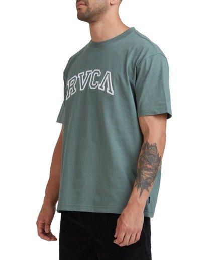 1 Rvca Teamster Short Sleeve Tee Green R115048 RVCA