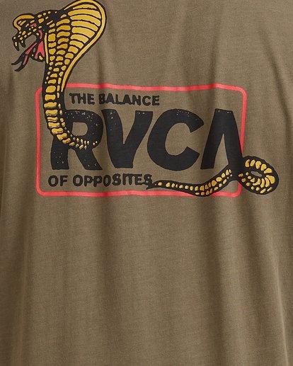 3 Snake Eyes Pocket Short Sleeve Tee Green R115050 RVCA