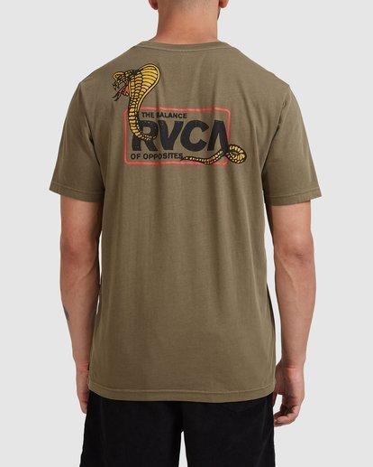 0 Snake Eyes Pocket Short Sleeve Tee Green R115050 RVCA