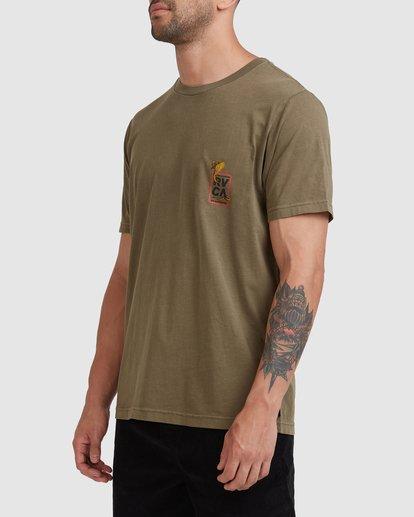 1 Snake Eyes Pocket Short Sleeve Tee Green R115050 RVCA