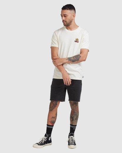 4 Exotic Short Sleeve Tee Beige R115052 RVCA