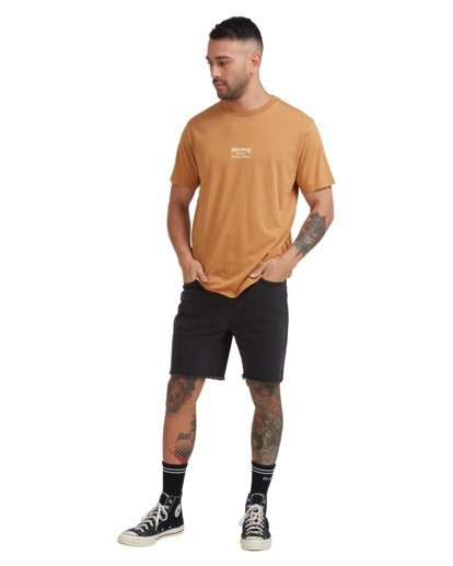 4 Worldwide Short Sleeve Tee Yellow R115056 RVCA