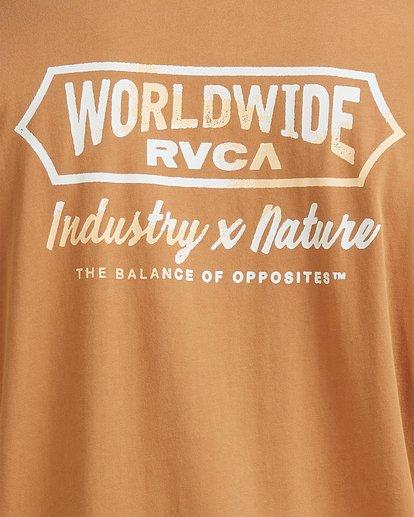 3 Worldwide Short Sleeve Tee Yellow R115056 RVCA