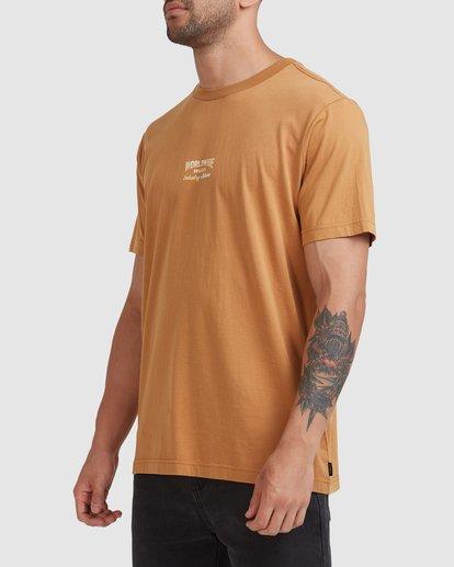 1 Worldwide Short Sleeve Tee Yellow R115056 RVCA