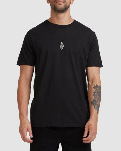 2 Trippy Times Short Sleeve Tee Black R115057 RVCA