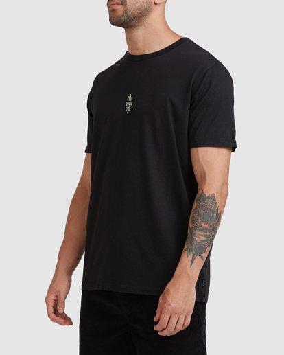 1 Trippy Times Short Sleeve Tee Black R115057 RVCA