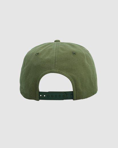 3 Exotic Snapback cap Green R115561 RVCA