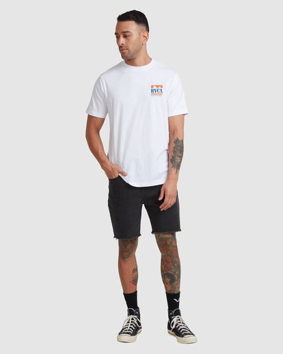4 PACKETS SHORT SLEEVE TEE White R117057 RVCA