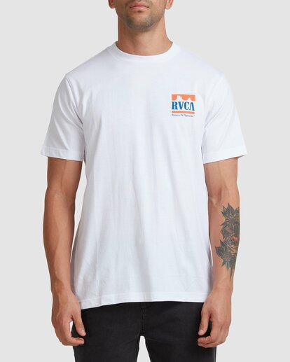2 PACKETS SHORT SLEEVE TEE White R117057 RVCA