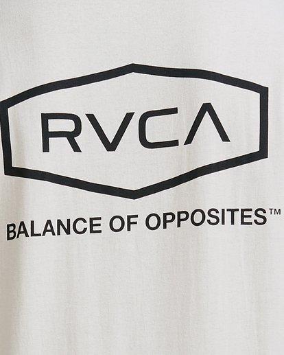 3 Worker Short Sleeve Tee Beige R117059 RVCA