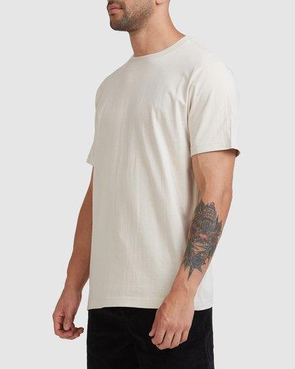 1 Worker Short Sleeve Tee Beige R117059 RVCA