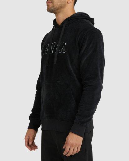 1 RVCA ARCH FUZZ HOODIE Black R118153 RVCA