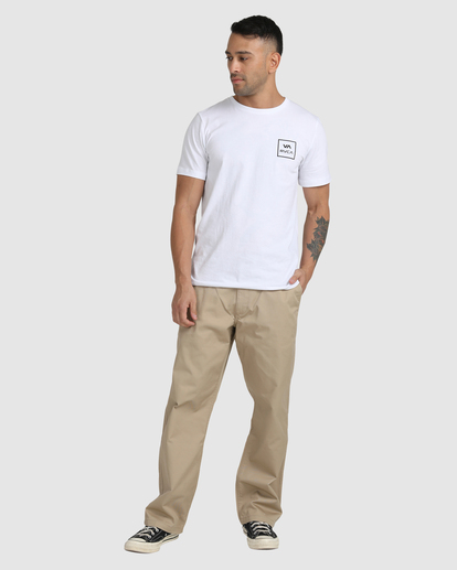 4 Recession | Americana Relaxed Fit Chino Pants Green R191271 RVCA