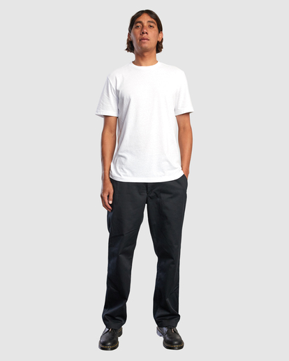 4 Recession | Americana Relaxed Fit Chino Pants Black R191271 RVCA