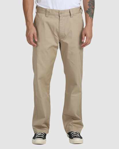 1 Recession | Americana Relaxed Fit Chino Pants Green R191271 RVCA