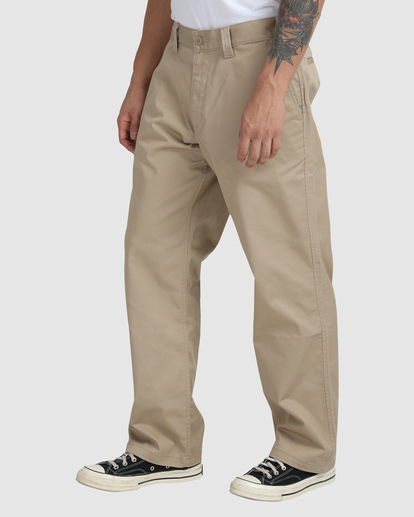 0 Recession | Americana Relaxed Fit Chino Pants Green R191271 RVCA