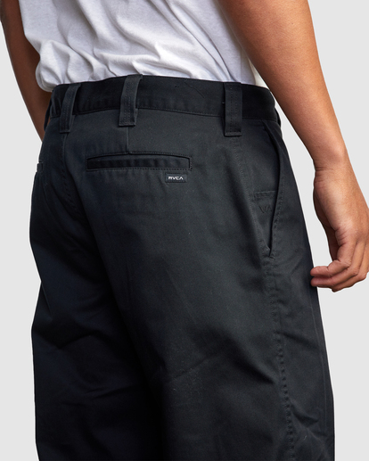 3 Recession | Americana Relaxed Fit Chino Pants Black R191271 RVCA