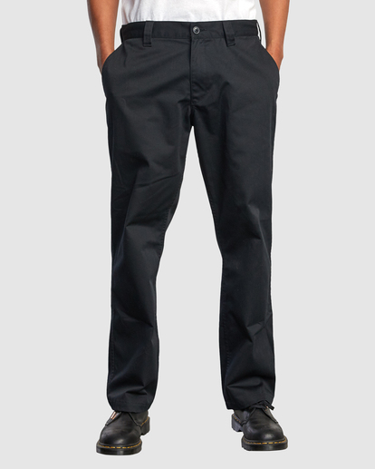 1 Recession | Americana Relaxed Fit Chino Pants Black R191271 RVCA