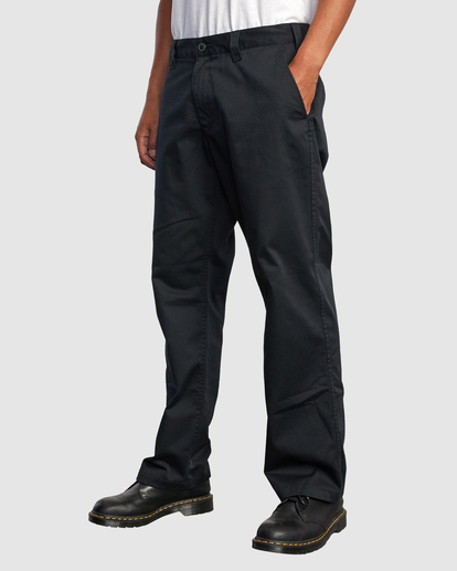 0 Recession | Americana Relaxed Fit Chino Pants Black R191271 RVCA