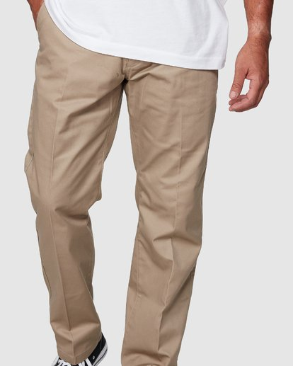 4 Recession | Americana Relaxed Fit Chino Pants Beige R191271 RVCA
