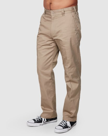 0 Recession | Americana Relaxed Fit Chino Pants Beige R191271 RVCA
