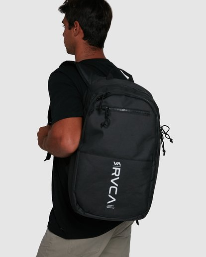 7 Rvca Down The Line Backpack Black R192451 RVCA