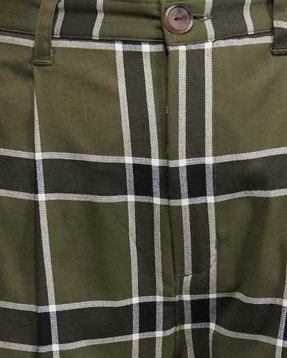 6 Plaid Playa Pants Green R207272 RVCA