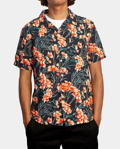 0 Beat Print Short Sleeve Shirt Blue R305190 RVCA
