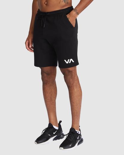 """0 VA SPORT IV SWEAT SHORT 19"""" Black R305314 RVCA"""
