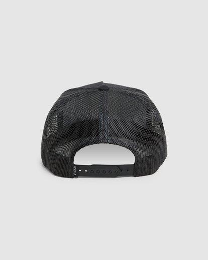 2 VA ATW PRINT TRUCKER CAP Black R305576 RVCA
