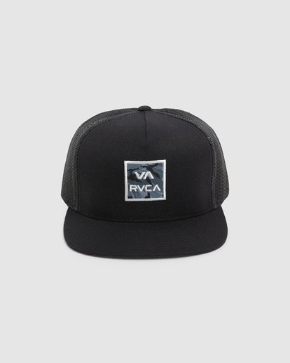1 VA ATW PRINT TRUCKER CAP Black R305576 RVCA
