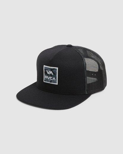 0 VA ATW PRINT TRUCKER CAP Black R305576 RVCA