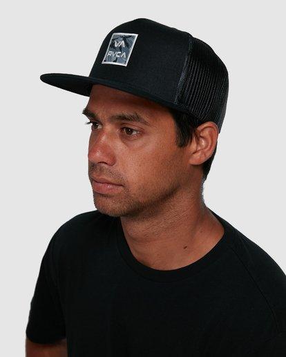 6 VA ATW PRINT TRUCKER CAP Black R305576 RVCA