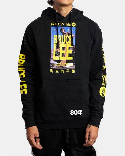 0 Bruce Lee As You Think Hoodie Black R306154 RVCA