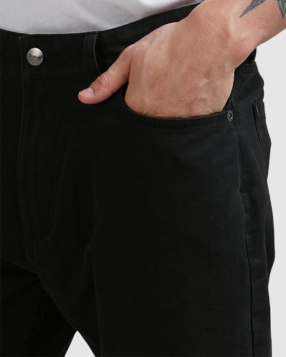 3 DAGGERS TWILL PANTS Black R307280 RVCA