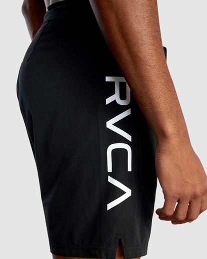 "3 Fight Scrapper Athletic Shorts 17"" Black R307311 RVCA"