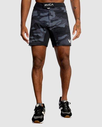"1 Fight Scrapper Athletic Shorts 17"" Grey R307311 RVCA"