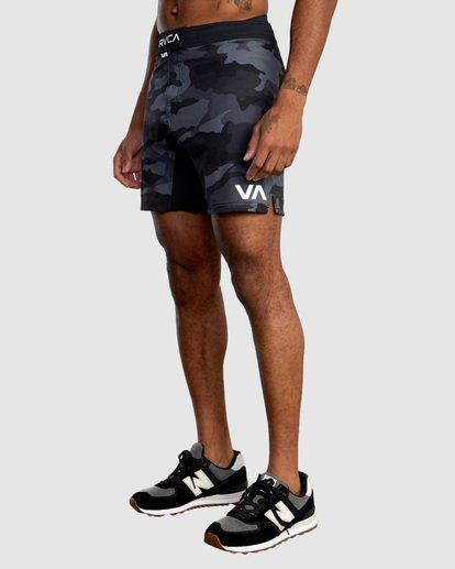 "0 Fight Scrapper Athletic Shorts 17"" Grey R307311 RVCA"