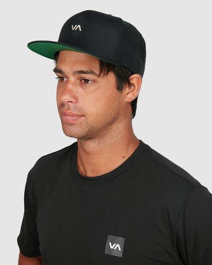 1 VA PATCH SNAPBACK CAP Black R307572 RVCA