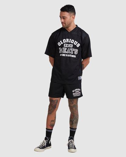 4 Matty Practice Jersey Short Sleeve Tee Black R315043 RVCA