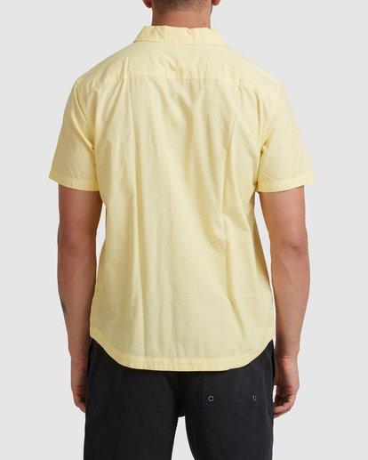 2 Kevin Spanky Long   KSL Easy Short Sleeve Shirt Yellow R315181 RVCA