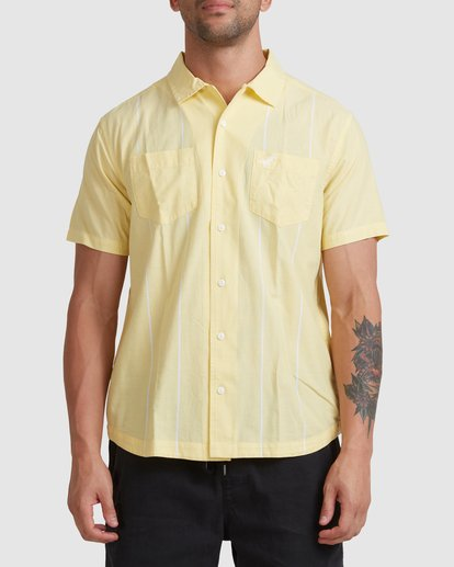 0 Kevin Spanky Long   KSL Easy Short Sleeve Shirt Yellow R315181 RVCA