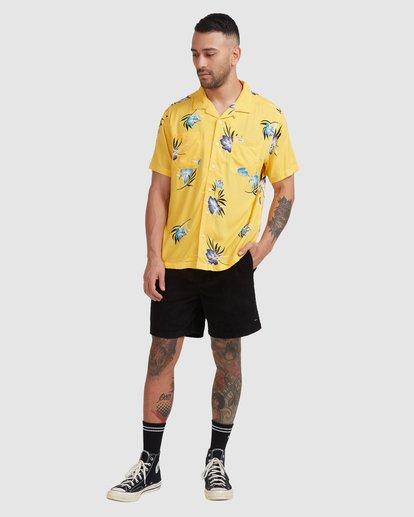 4 Cliffs Floral Short Sleeve Shirt White R315182 RVCA