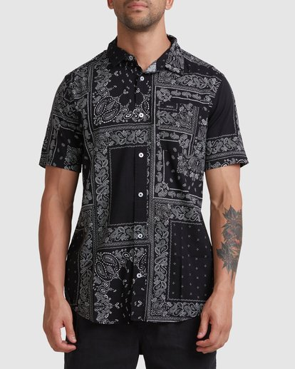 0 Yari Short Sleeve Shirt Black R315184 RVCA