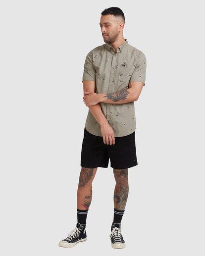 4 Tropicalia Short Sleeve Shirt Green R315185 RVCA